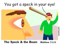 log in my eye